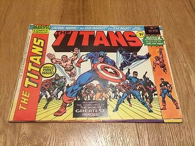 THE TITANS No 1 Date Oct 25th 1975 25/10/1975 MARVEL COMICS 9p First Issue