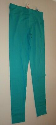 New Justice Leggings Girls 18 yr Stretch Soft Pants Turquoise Blue Green Full Le