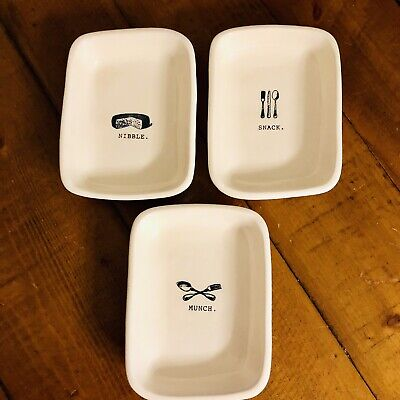 Rae Dunn ❤️Artisan Collection by Magenta Munch, Nibble, Snack Set Small Bowls