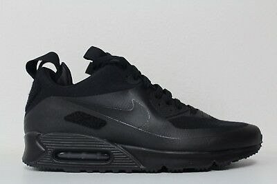 761a03e05d Nike Mens Air Max 90 Sneakerboot SP Patch Black Black 704570 001 Size 12