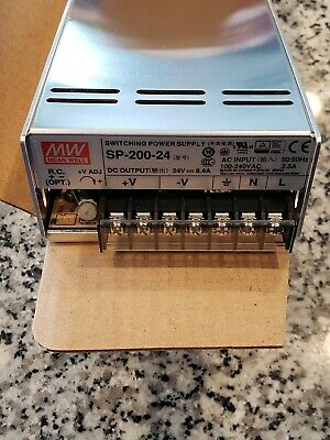 NEW / US SELLER Mean Well SP-200-24 AC to DC Power Supply Single Output 24V 8.4A