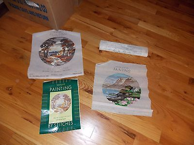 WM Briggs Needlepoint Panels Completed + Kit + Canvas England