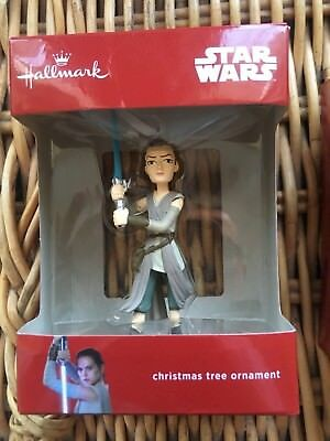 """Star Wars Christmas Decoration Lightsabre Rey Tree """"Bauble"""" hanging official bn"""