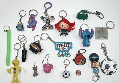 Mixed Lot of Keychains Backpack Clips Taylor Swift HSM Marvel Disney Angry Birds