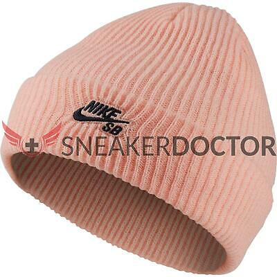 factory authentic d413a 7dbd0 New Nike Unisex Fisherman Beanie Skully Storm Pink Obsidian Blue