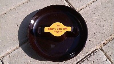 Vintage Shell Service Station Ashtray Gas Oil Durfey Whitewater Wisconsin