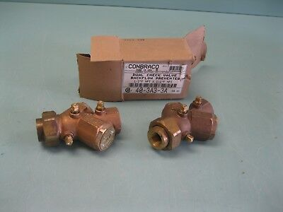 "Lot (2) 1/2"" NPT Apollo Conbraco 40-3A3-3A Backflow Preventer NEW L11 (2416)"