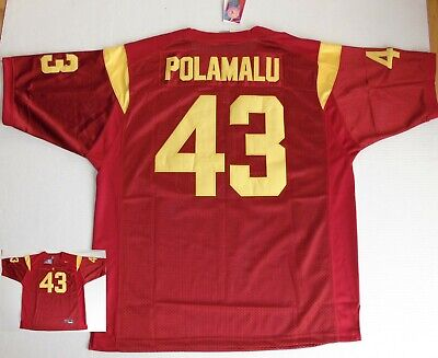 c4b02c2cd NWT New Old Stock Nike Authentic Troy Polamalu USC Jersey Red Size Men s  2XL 54
