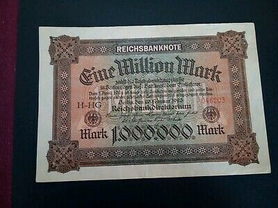 Banknote Germany 1923( f+)1,000,000 Reichsmarks.