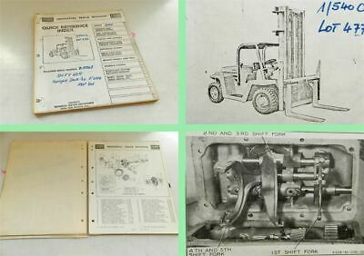 Clark DCFY225 Fork lift truck Parts list book Maintenance users manual 1962