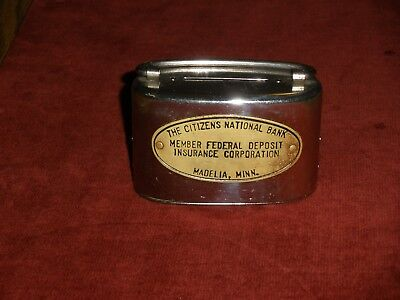 Antique Vintage Bank from The Citizens National Bank Madelia, Minn. HTF & Rare