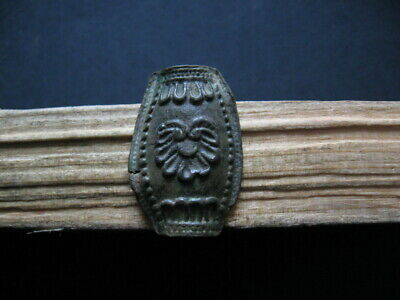 Druids Amulet With Stylized Eagle Ancient Celtic Bronze Talisman 300-100 B.c