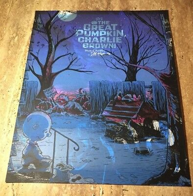 """Timothy Doyle Nakatomi """"It's the Great Pumpkin"""" Charlie Brown Unknown Variant"""