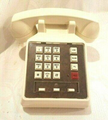 Telephone Vintage 1940-1969 White Color Home Decor Collectibles