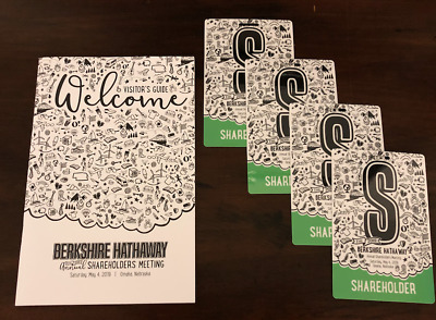 Berkshire Hathaway 2019 Annual Shareholders Meeting - 4 Tickets Visitor's Guide
