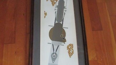 Charles Harper Furred Feeder limited ed 1979 serigraph framed numbered 2372/2500