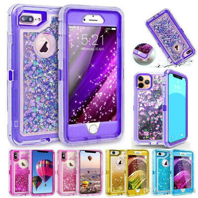 360° Liquid Glitter Bling Flowing Sparkle Case Cover For iPhone 6/6s/7/8 Plus