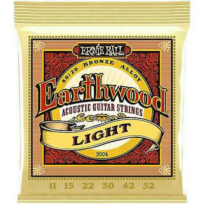 Ernie Ball Earthwood 2004 80/20 11-52 Light Acoustic Guitar Strings *BRAND NEW*