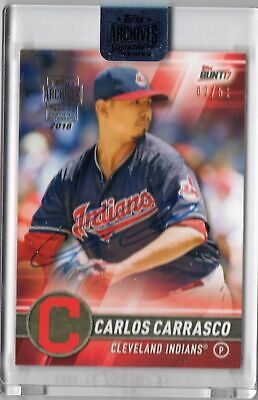 2018 Topps Archives Signature Series Carlos Carrasco 02/51