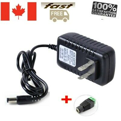 DC 12V 2A AC 100-240V US Plug Power Supply Adapter Charger For LED Strip Lights