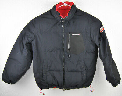 cheap price best collection cute TOMMY HILFIGER DOWN Coat Large L/G US Ski Team Reversible Jacket Bubble  Feather