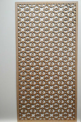 Radiator Cabinet Decorative Screening Perforated 3mm & 6mm thick mdf lasercutE1