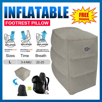 Adjustable Inflatable Travel Office Home Foot Rest Pillow Height Leg Kids Bed
