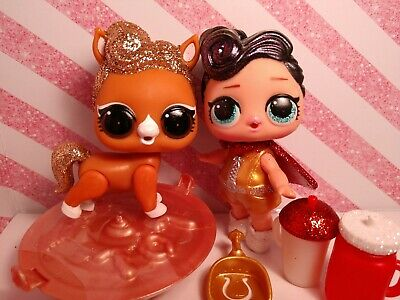 Lol surprise dolls, THE QUEEN. Big sister & pet. Rare & Retired set of 2.
