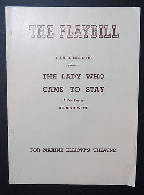 The Lady Who Came To Stay Playbill Maxine Elliotts Theatre Flop 1941