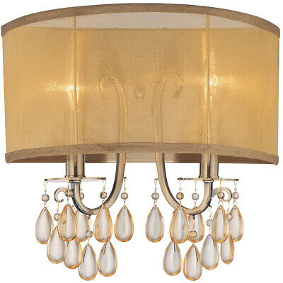 Crystorama 5622-AB Hampton Wall Sconce Antique Brass