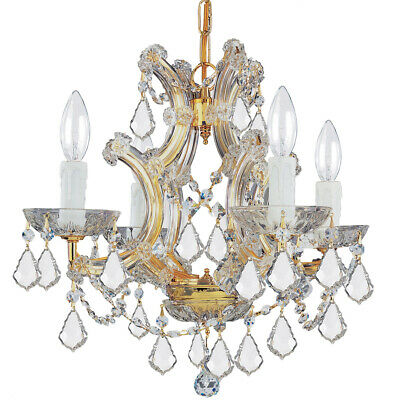 Crystorama 4474-GD-CL-MWP Maria Theresa Mini Chandelier Gold