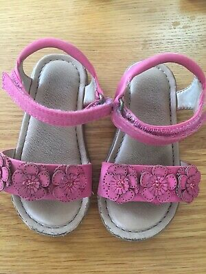 Next Baby Girls Pink Velcro Sandals Infant Size 7