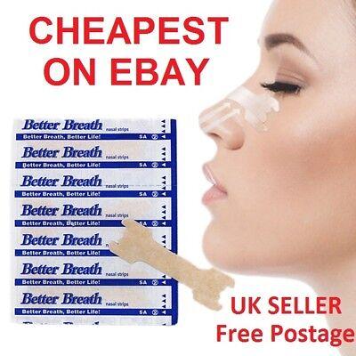 Nasal Nose Sleep strip better breathe Stop Snoring Breath Easier UK Strips BEST