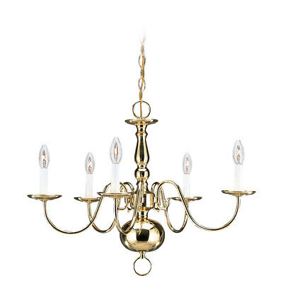 Sea Gull Lighting 3410-02 Traditional Chandelier Polished Brass