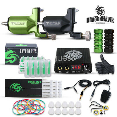 Dragonhawk Tattoo Kit 2 Rotary Tattoo Machine Power Supply for Tattoo Artists V