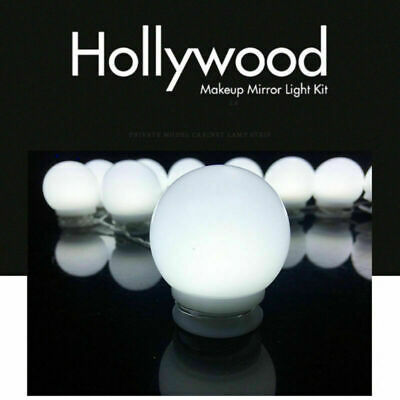 Hollywood Style LED Dimmable Makeup Beauty Vanity Mirror Light Kit With 10 Bulbs