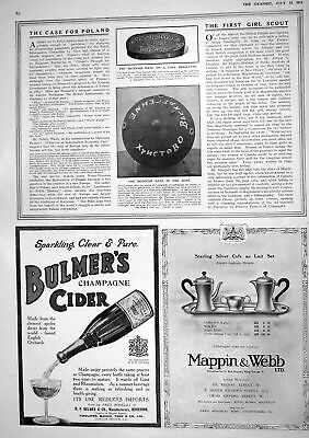 Old Print 1916 Coal Briquette Bulmers Cider Mappin Webb French German War 20th