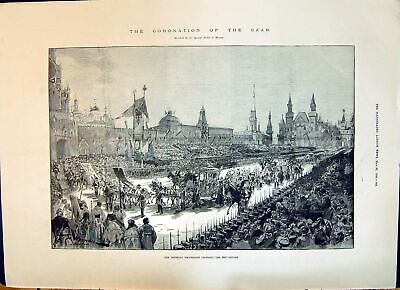 Old 1896 Coronation Czar Procession Red Square Ringing Church Bells M Victorian