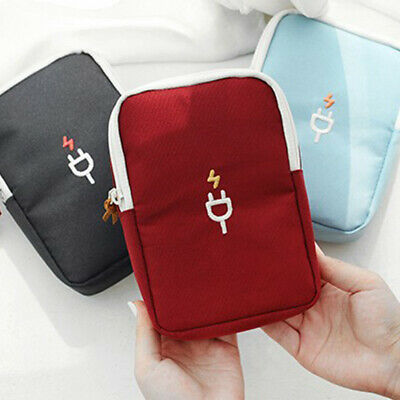 Waterproof Electronic Accessories Storage Bag Travel Charger USB Cable Organizer