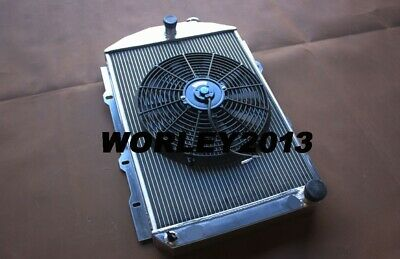 STREET ROD 350 V8 1938 manual Aluminum radiator for CHEVY HOT
