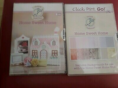 Cutting Craftorium 'Home Sweet Home' Svg Usb And Cd Rom Of 200 Backing Papers