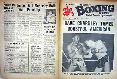 Antique Old Print Boxing 1963 Charnley Cason Williams Fragoso Field Atlan 20th
