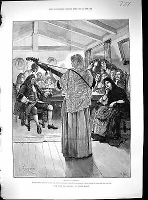 Old 1888 Woman Playing Music Entertainment Audience Forestier Taylor Victorian