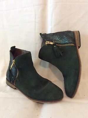 Girls Next Green Suede Boots Size 13