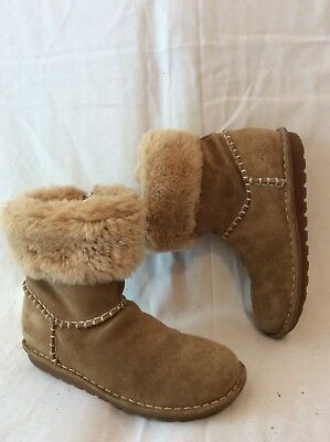 Girls Clarks Brown Suede Boots Size 2F
