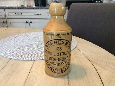 Rare vintage G. Barnes & Son ginger beer bottle