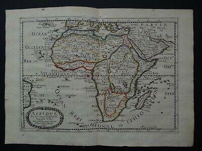 1656 SANSON  Atlas map  AFRICA - AFRIQUE - Madagascar - Arabia