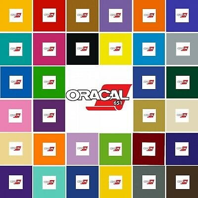 A4 Vinyl Sheets - Oracal 651 - Self Adhesive - Gloss Polymeric - Every Colour
