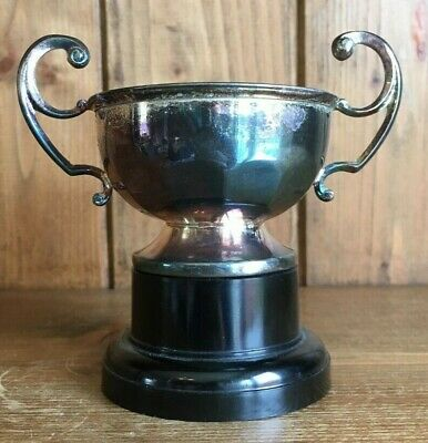 NOT ENGRAVED Vintage silver plate trophy. loving cup, trophies