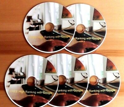 SEO - DIY for more visitors to your website - save ££££s with this set of 5 DVDs